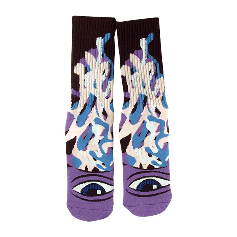 Toy Machine Barf Sect Crew Socks - Purple