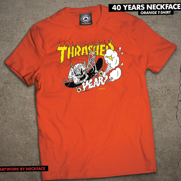 Thrasher Neckface 40 Years Tee - Orange