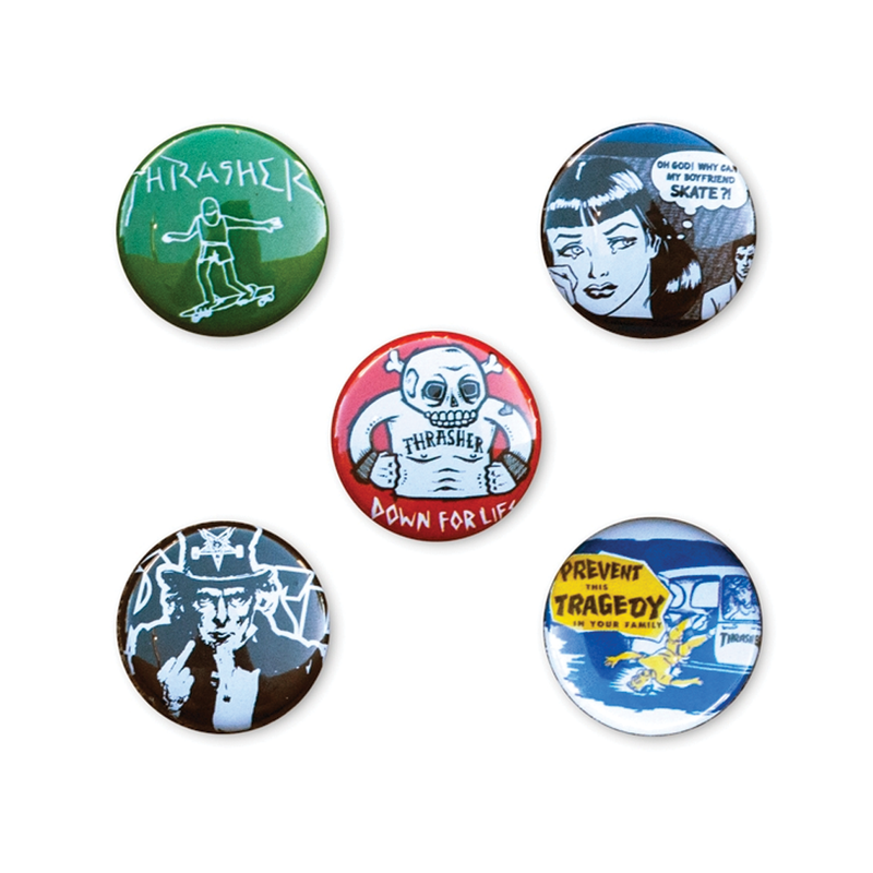 Thrasher Usual Suspects Buttons - 10 Pack