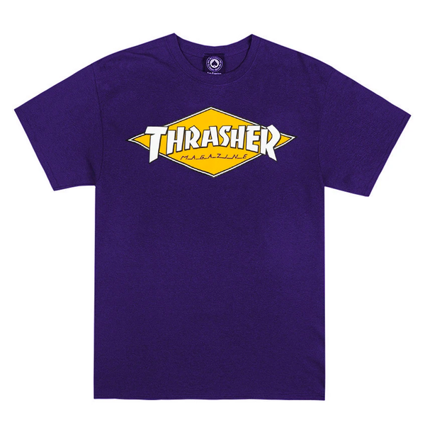Thrasher Diamond Logo Tee - Purple