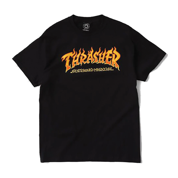 Thrasher Fire Logo Tee - Black