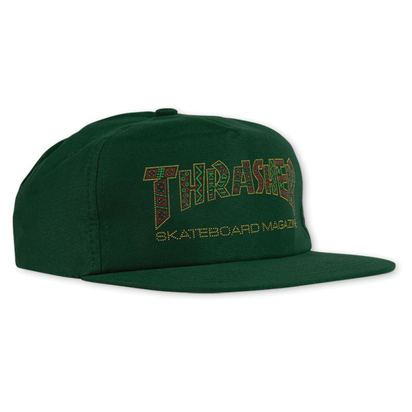 Thrasher Davis Snapback Hat - Green