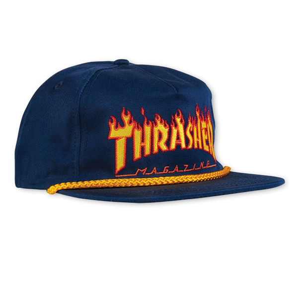 Thrasher Flame Rope Hat - Navy