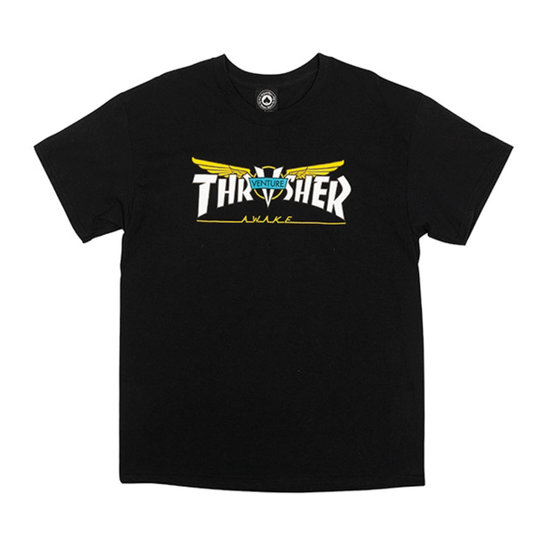 Thrasher Venture Collab Tee - Black