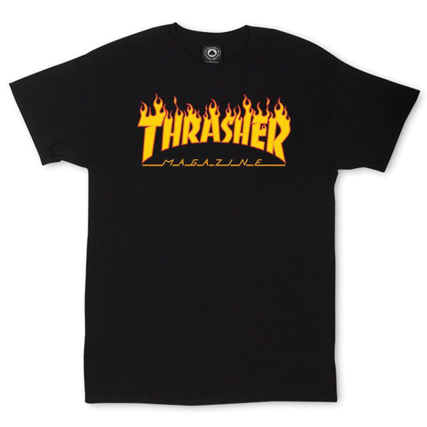 Thrasher Flame Logo Tee - Black