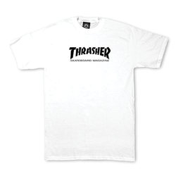 Thrasher Mag Logo Youth Tee - White