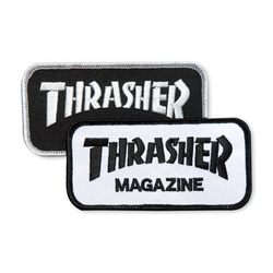 Thrasher Mag Logo Patch - White