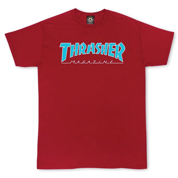 Thrasher Outline Tee - Cardinal