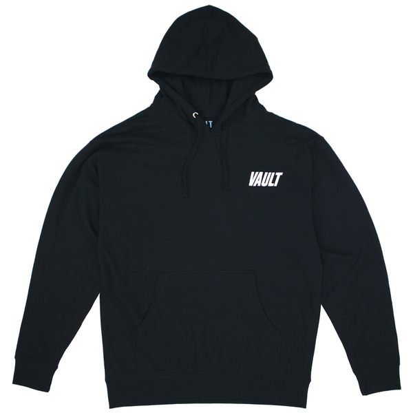 Vault Club Hoodie Embroidered - Black