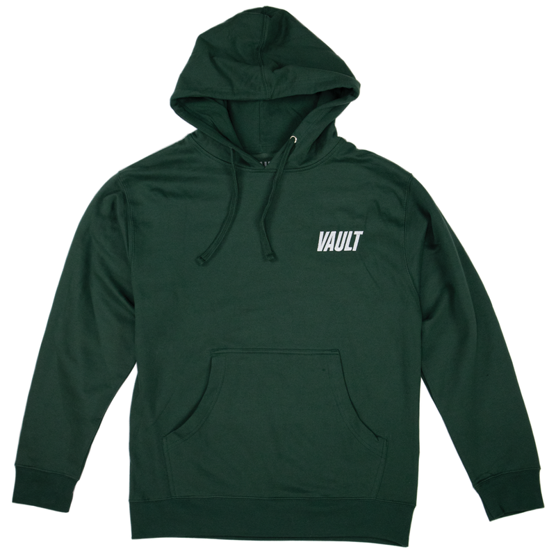 Vault Club Hoodie Embroidered - Green