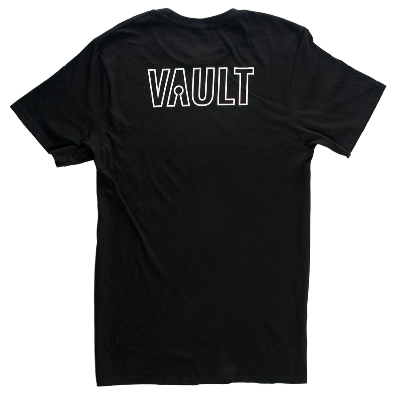 Vault Outline Tee - Black