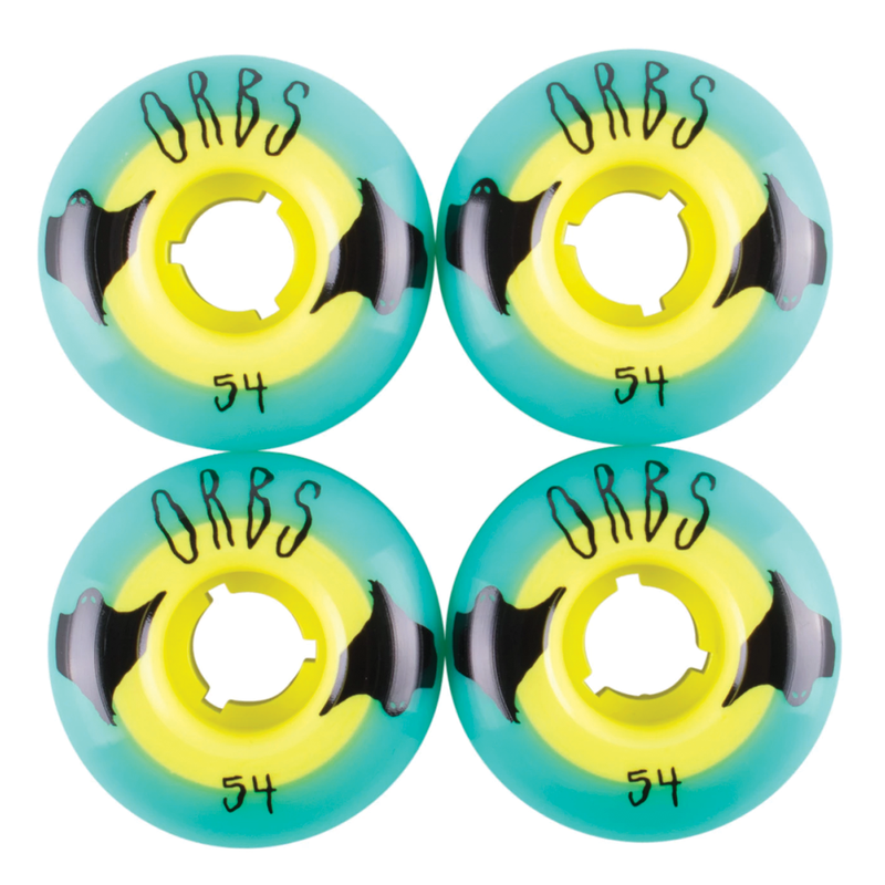 Welcome Orbs Poltergeists - Teal/Yellow - 54mm