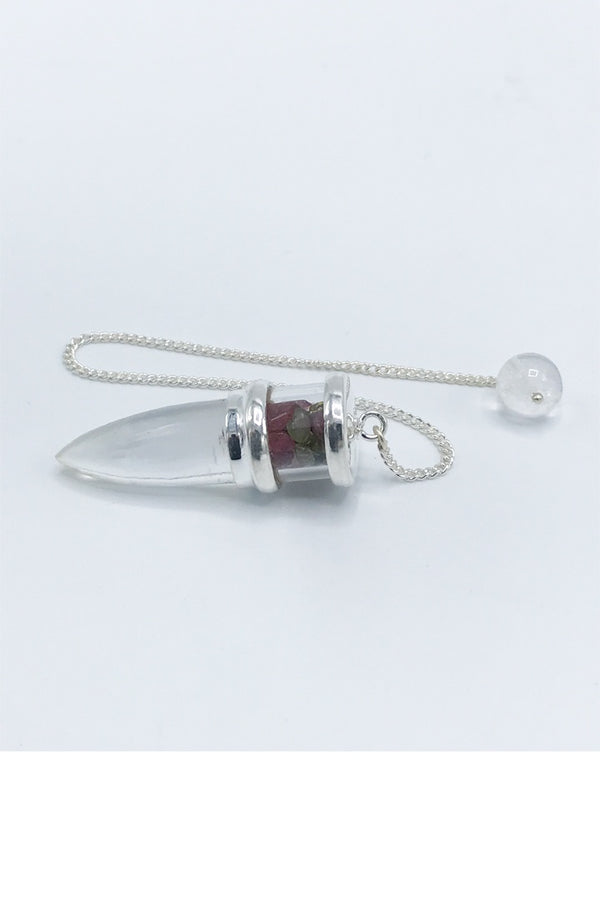 Quartz and Tourmaline Pendulum - Zero Point Crystals