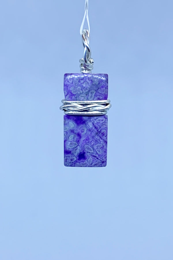 Sugilite Wire Wrap Pendant - Zero Point Crystals
