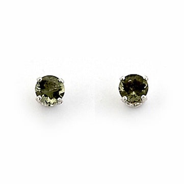 Moldavite Stud Earrings - Zero Point Crystals