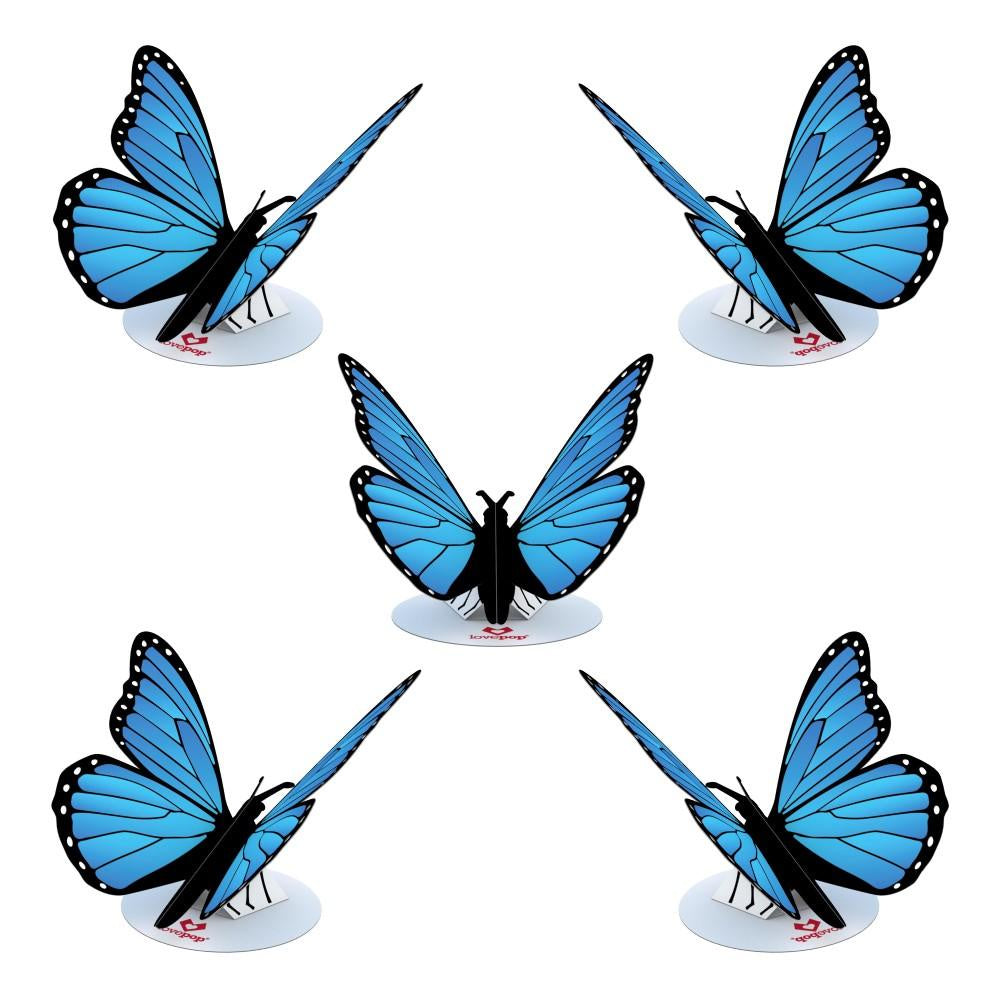 Blue Morpho Stickerpop 5 pack - Zero Point Crystals