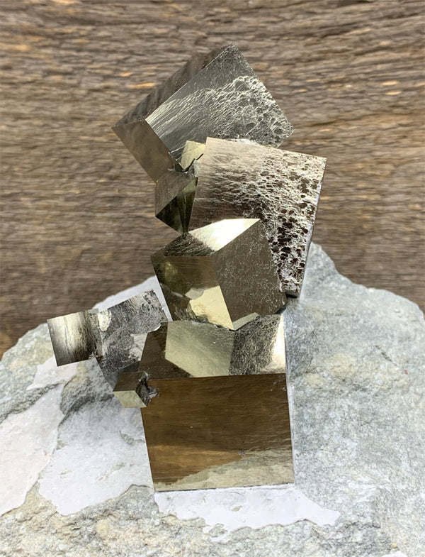 Pyrite Cubes in Matrix - Zero Point Crystals