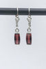 Idaho Garnet Barrel Cut Earrings - Zero Point Crystals