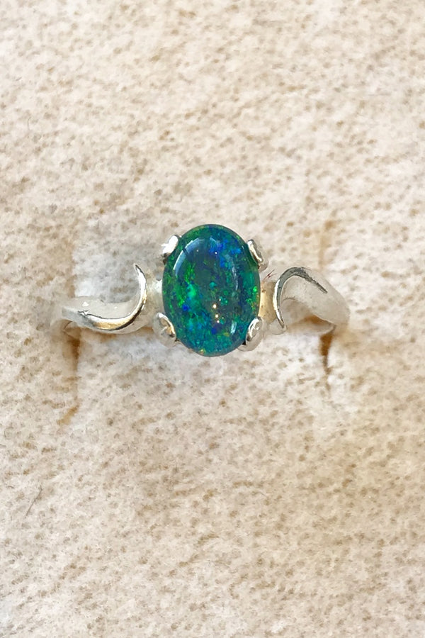 Idaho Opal Ring (8x6mm) - Zero Point Crystals