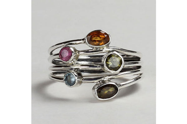 Tourmaline (fixed stack) Ring
