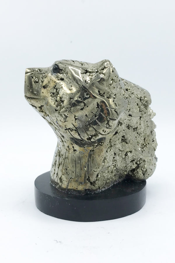 Pyrite Bear Carving - Zero Point Crystals