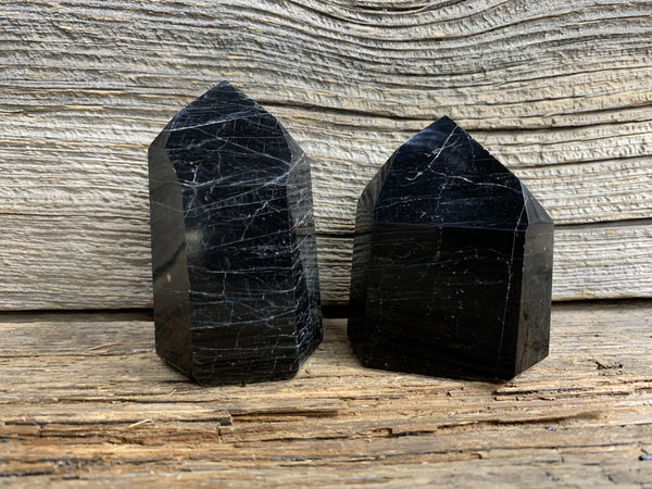 Black Tourmaline Obelisk 7867 - Zero Point Crystals