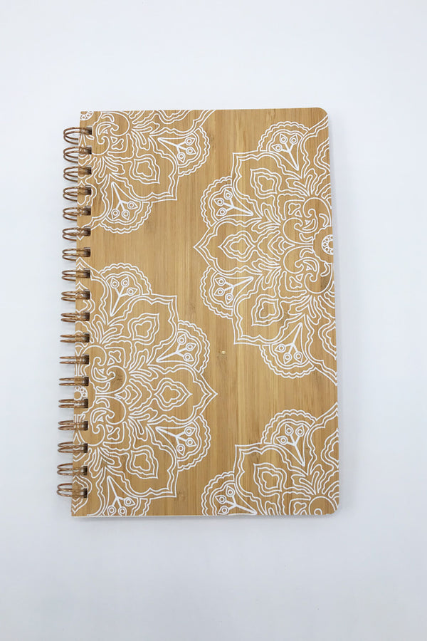 Woodgrain Mandala Journal - Zero Point Crystals