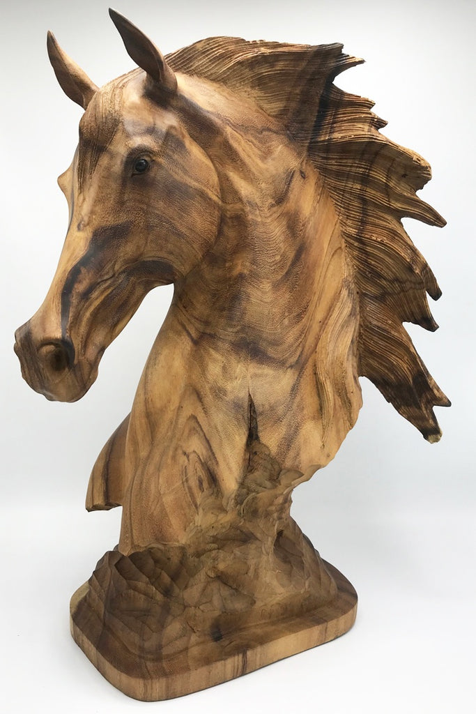 Horse Head Carving - Zero Point Crystals