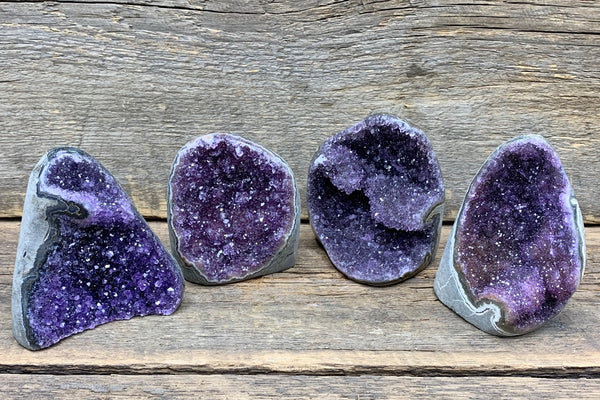 "Amethyst Freeform Geode 4"" - Zero Point Crystals"