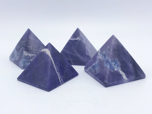 "Violet Flame Opal Pyramid 2.5"" - Zero Point Crystals"