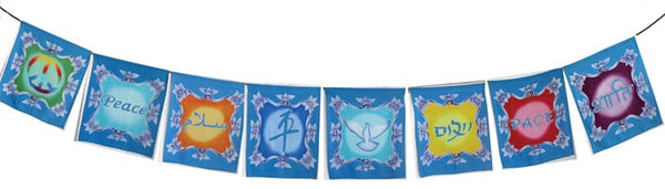 Garland of Peace Flags - Zero Point Crystals