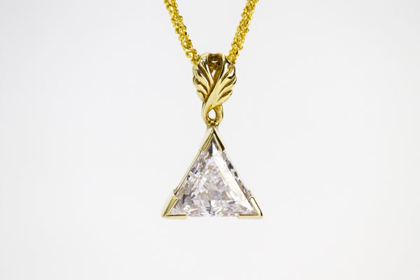 Diamond Simulant Pendant - Zero Point Crystals