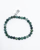 Moss Agate Bead (Stretch) Bracelet - Zero Point Crystals