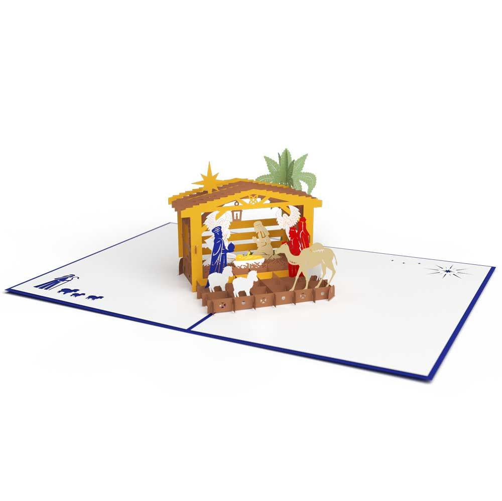Nativity Classic Pop-Up Card - Zero Point Crystals