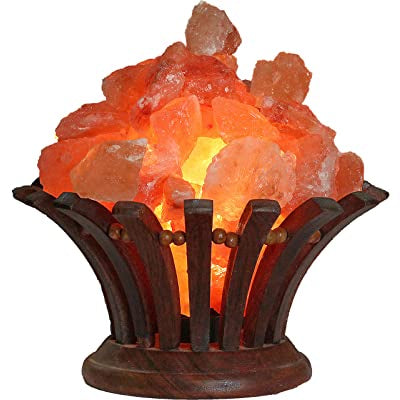 Himalayan Salt Lamp Wood Basket