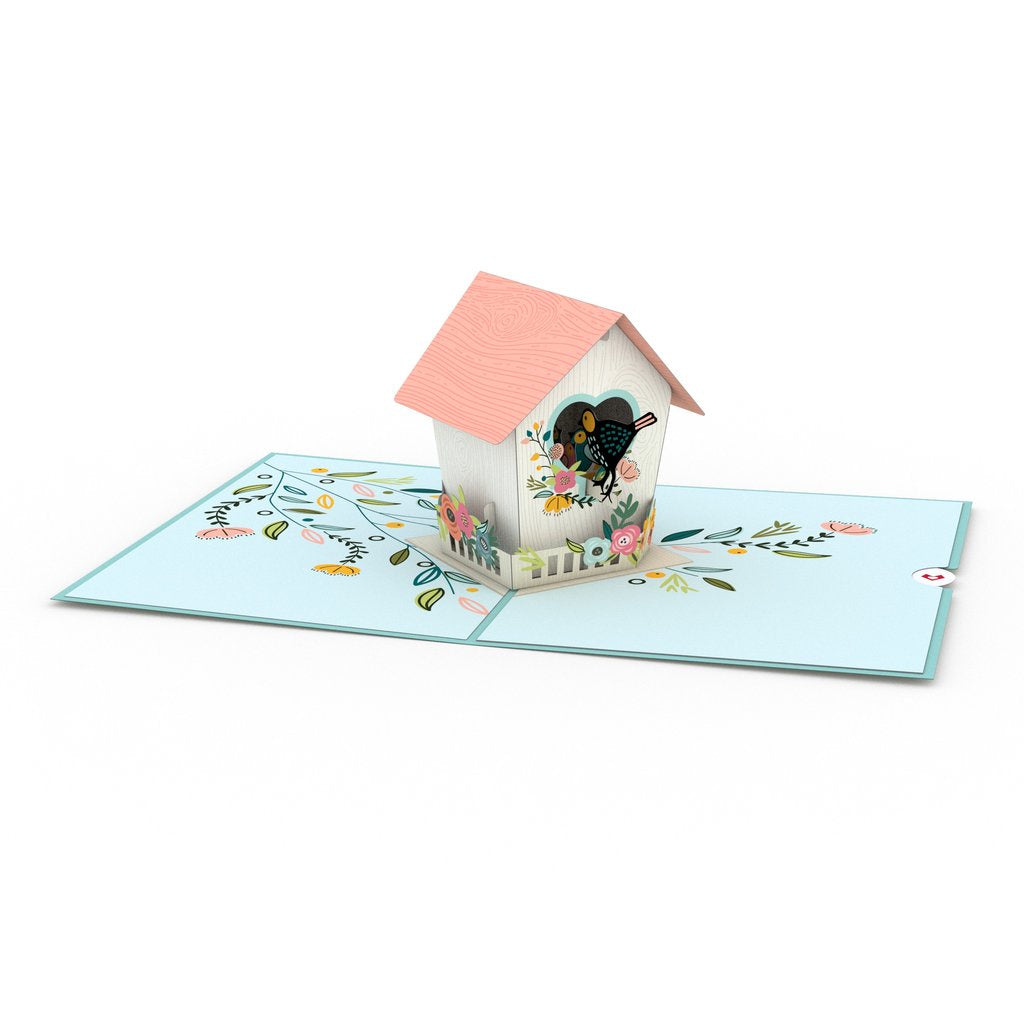 Birdhouse Pop Up Card - Zero Point Crystals