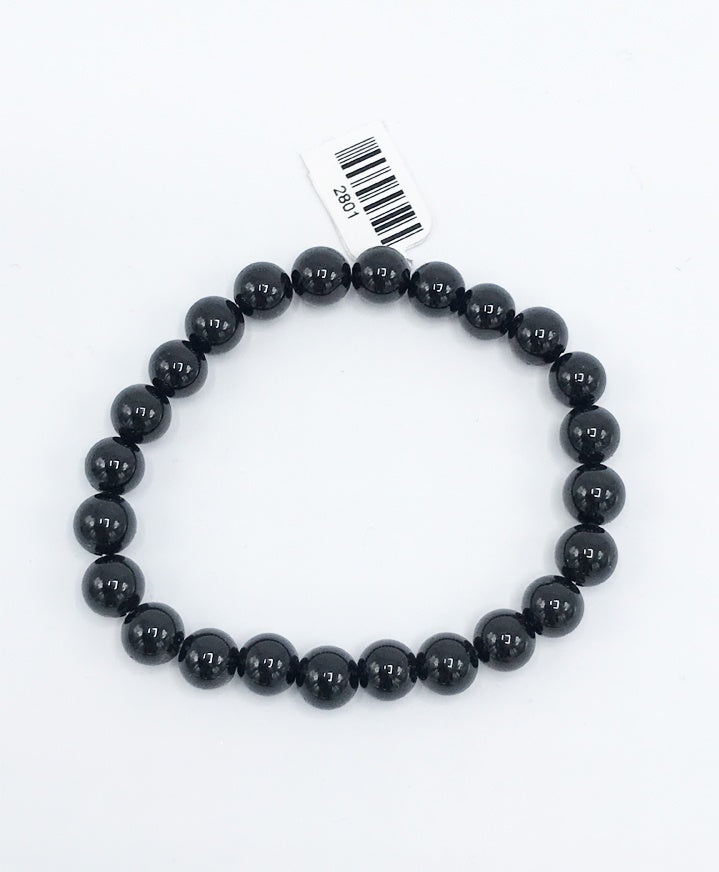 Onyx Bead (Stretch) Bracelet - Zero Point Crystals
