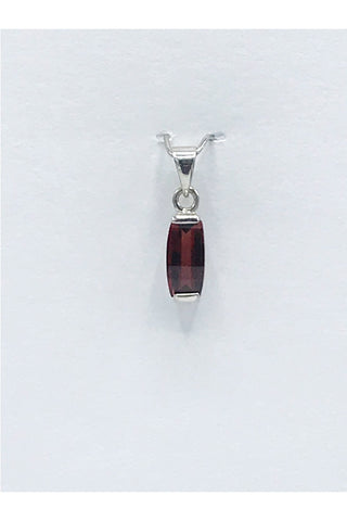 Idaho Garnet Barrel Cut Pendant - Zero Point Crystals