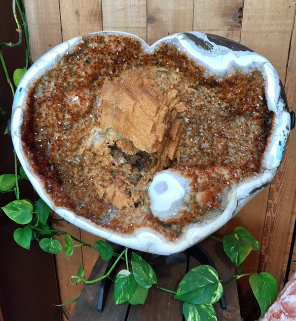 Citrine Geode Heart - Zero Point Crystals
