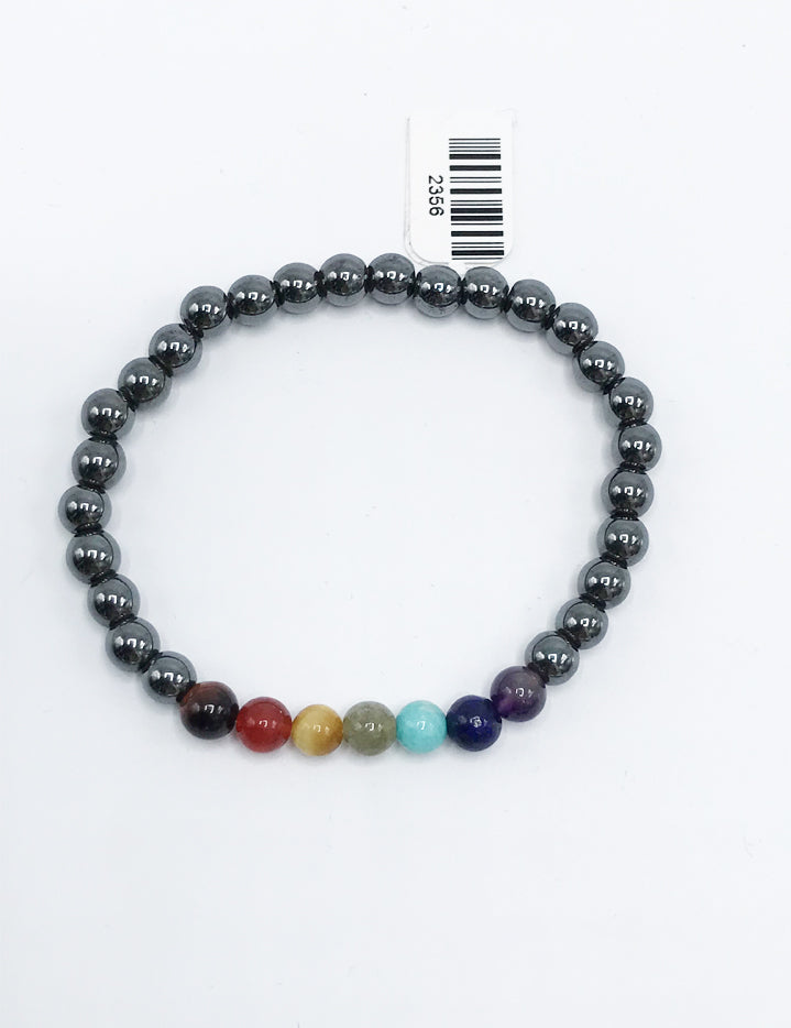 Hematite Chakra Bead (stretch) Bracelet - Zero Point Crystals