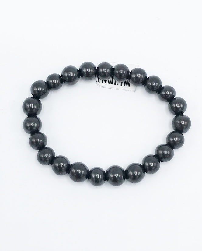 Shungite Bead (Stretch) Bracelet - Zero Point Crystals