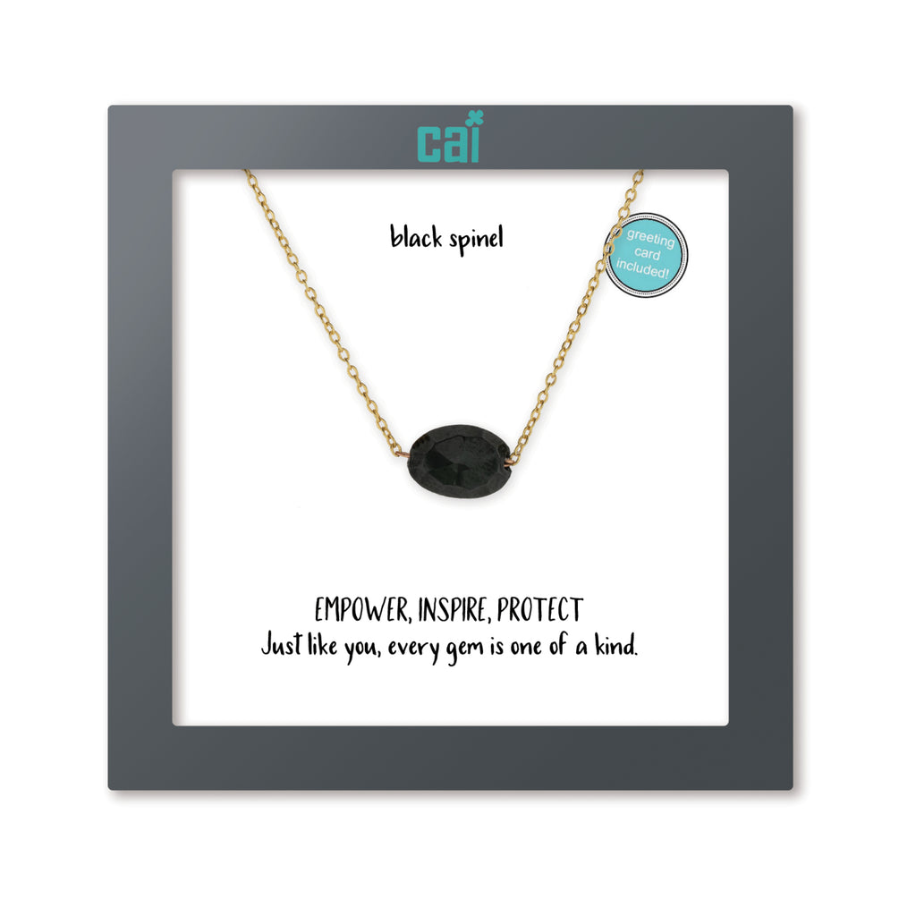Oval Genuine Gemstone Necklace - Zero Point Crystals