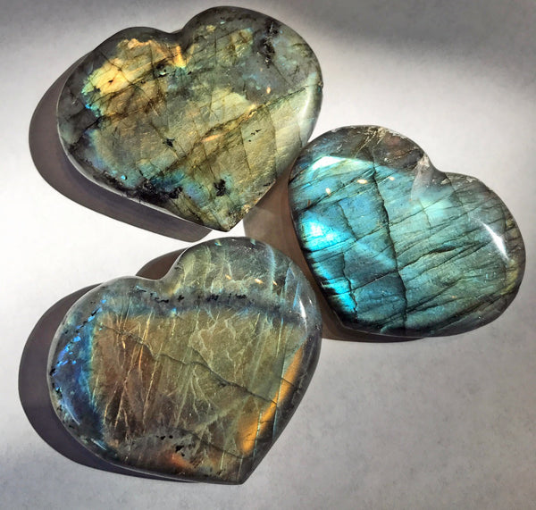 Labradorite Heart - Zero Point Crystals