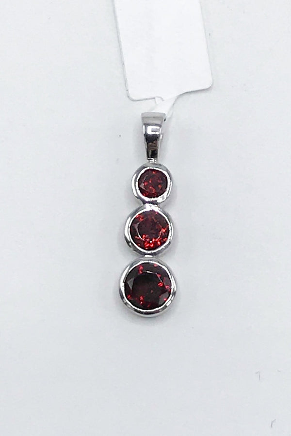 Idaho Garnet Drop Pendant - Zero Point Crystals