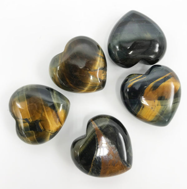 Tiger Eye Heart 30mm - Zero Point Crystals