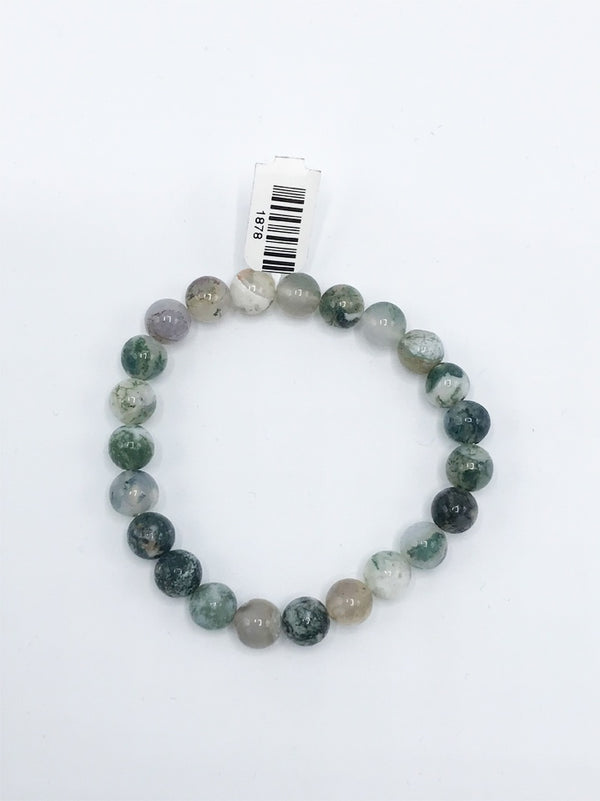 Moss Agate Stretch Bracelet - Zero Point Crystals
