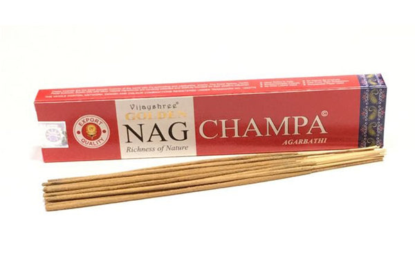 Golden Nag Champa Agarbathi - Zero Point Crystals