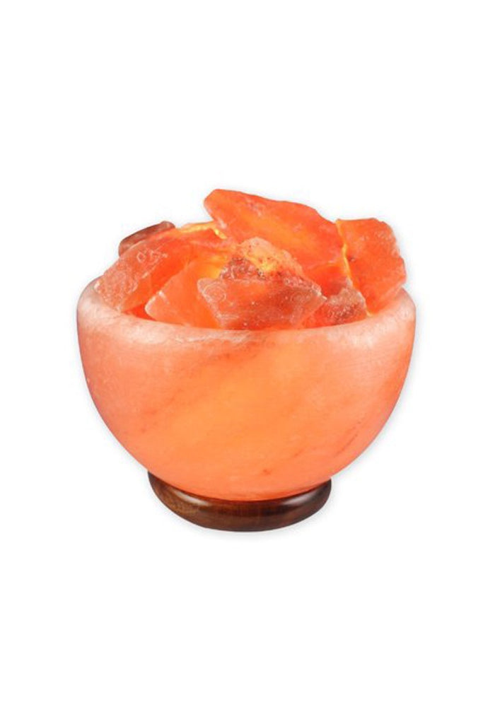 Himalayan Salt Fire Bowl with Chunks - Zero Point Crystals