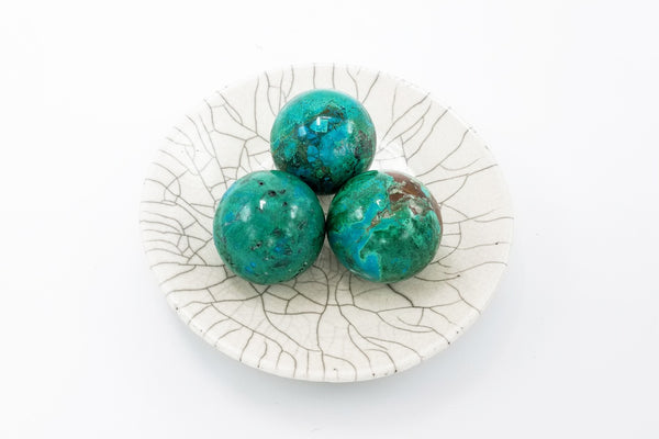 Chrysocolla Sphere - Zero Point Crystals