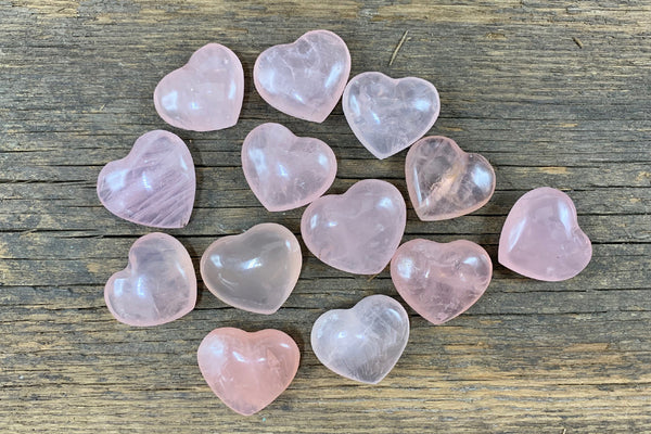 Rose Quartz Heart - Zero Point Crystals